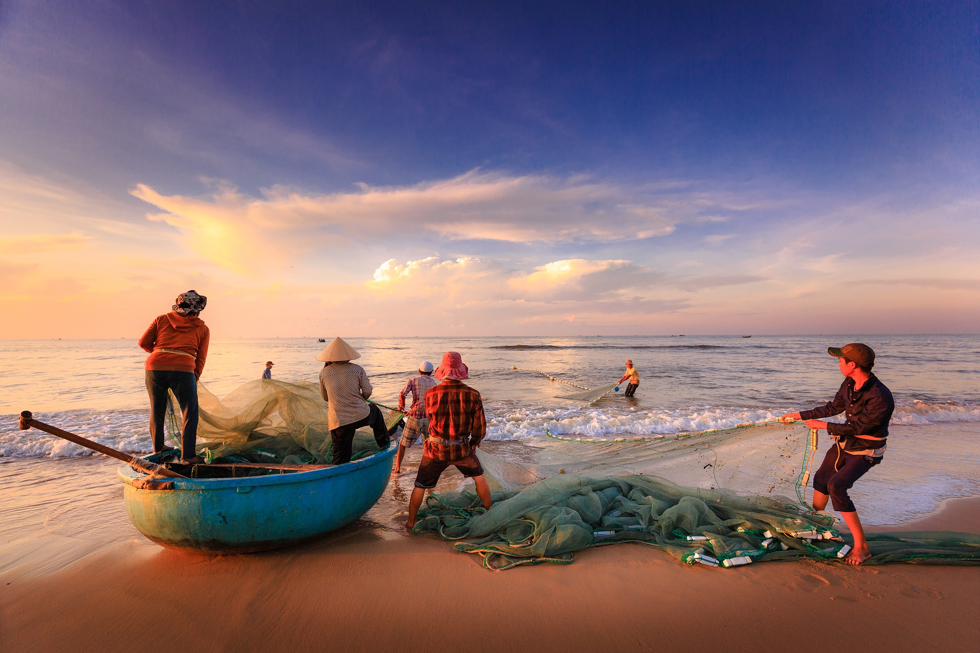 Fishers of Men with Nets